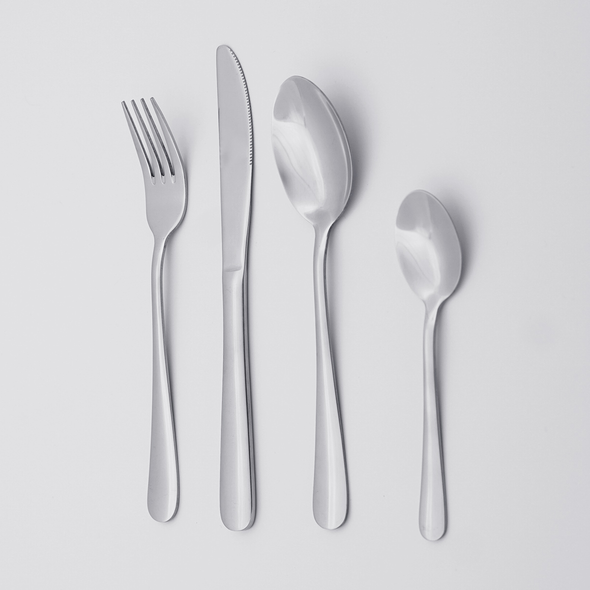 Wholesale Classic Design Low MOQ Cheap Price Flatware Set Silverware Stainless Steel Cutlery Set