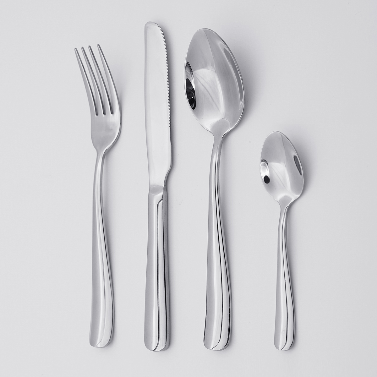Wholesale Modern Italian Silverware 18/8 Stainless Steel Cutlery Set Exquisite 4pcs Silverware Flatware