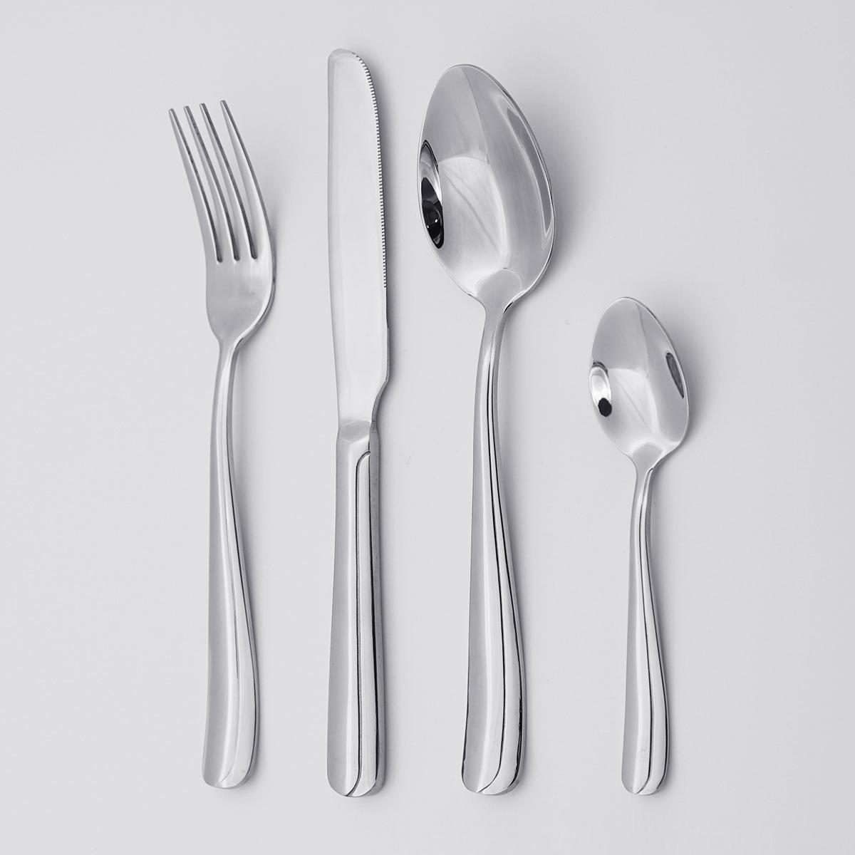 Wholesale Modern Italian Silverware 18/8 Stainless Steel Cutlery Set Exquisite 4pcs Silverware Flatware