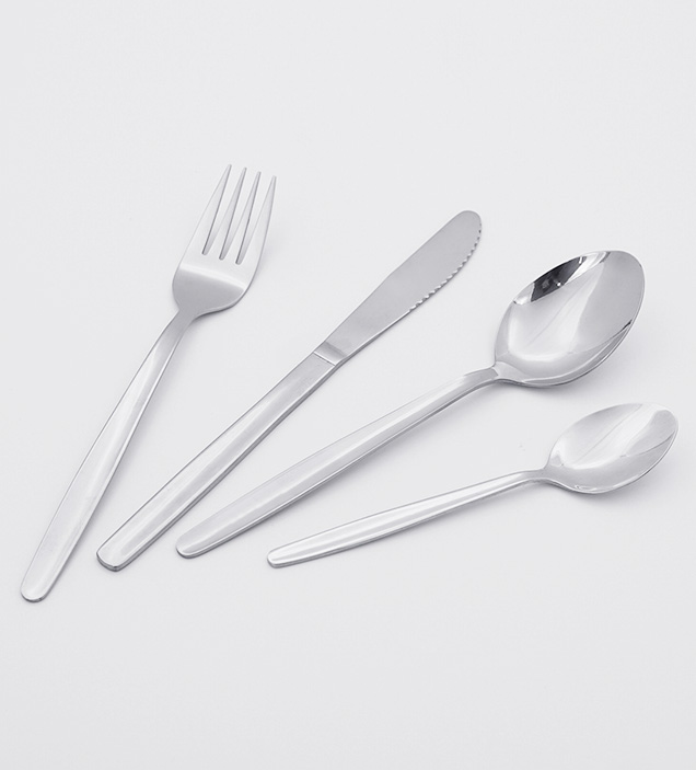 Wholesale Simple Design Mirror Polish Food Grade Stainless Steel Cutlery Flatware Silverware Set for Restaurant Hotel
