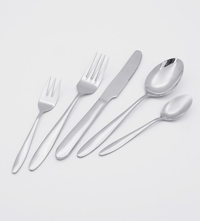 QZQ Wholesale Premium 18/10 Stainless Steel Cutlery Flatware Set Silverware for Restaurant Hotel