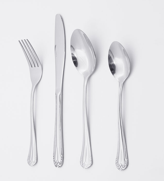QZQ Royal Elegant Stainless Steel Cutlery Flatware Set Silverware Wholesale for Restaurant Hotel Amazon