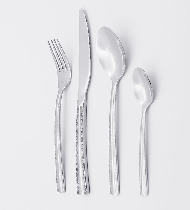 QZQ High Quality Exquisite Stainless Steel Cutlery Flatware Set Silverware Wholesale for Restaurant Hotel Amazon