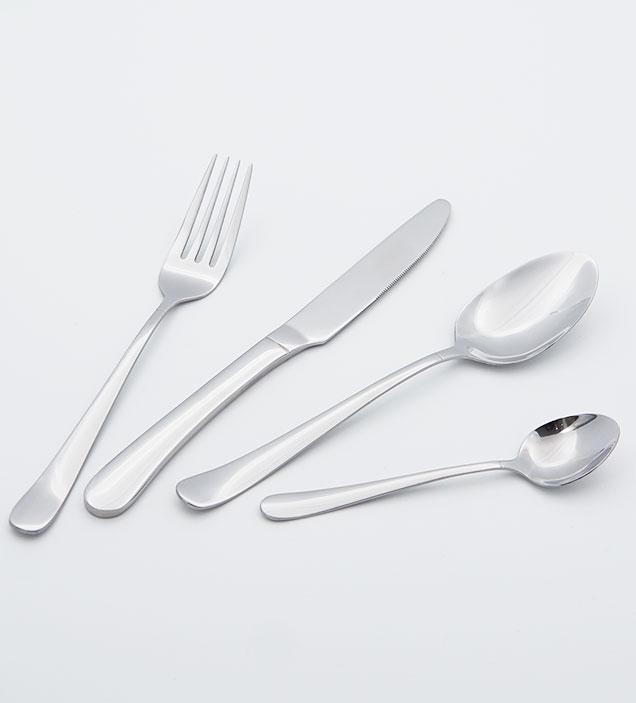 QZQ Stylish Silverware Wholesale Stainless Steel Cutlery Food Grade Flatware Set for Restaurant Hotel Amazon