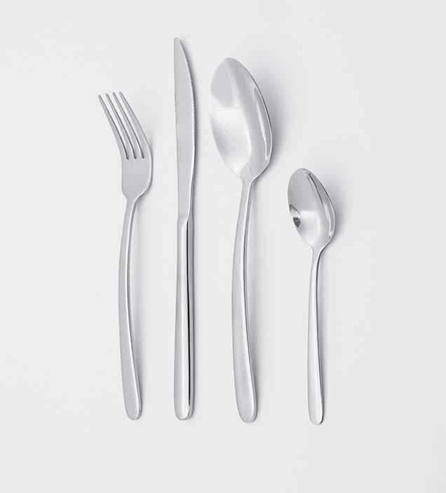 QZQ Simple Design Cutlery Set Wholesale Stainless Steel Silverware Food Grade Flatware Set for Restaurant Hotel Amazon