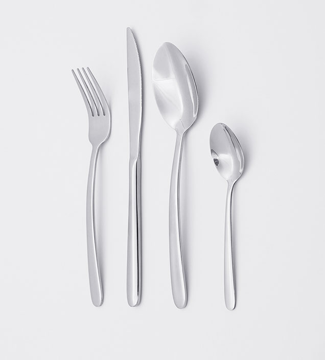 QZQ Simple Design Cutlery Set Wholesale Stainless Steel Silverware Food Grade Flatware Set for Restaurant Hotel Amazon