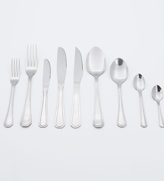 QZQ Wholesale Serving Spoon High Mirror Polish Unique Stainless Steel Cutlery Set