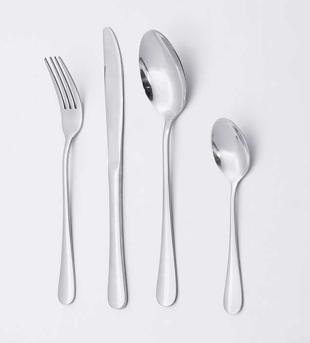 QZQ Wholesale Titanium Restaurant Fork Knife and Spoon for Event Stainless Steel Cutlery Set
