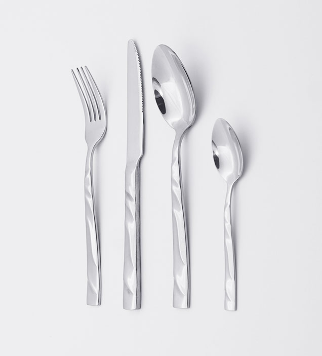QZQ Wholesale Hot Sell Western Style Silverware Flatware Set 304 Stainless Steel Cutlery