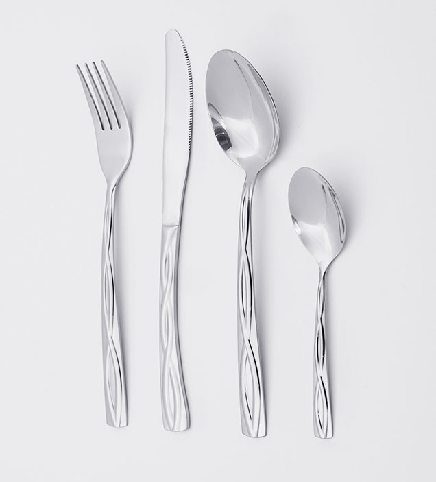 QZQ Wholesale Exquisite Handle Stainless Steel Cutlery Set Exquisite Wedding Silverware Flatware for Restaurant Hotel