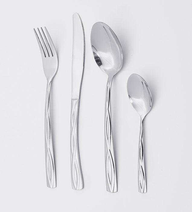 QZQ Wholesale Exquisite Handle Stainless Steel Cutlery Set Exquisite Wedding Silverware Flatware for Restaurant Hotel