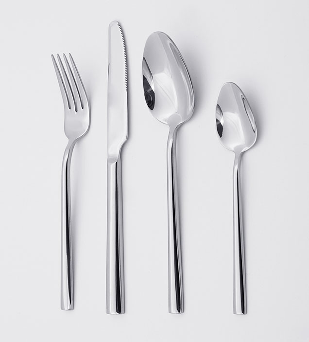 QZQ High Quality Long Handle Korean Flatware Knife Spoon and Fork Set 18/8 Stainless Steel Cutlery Set