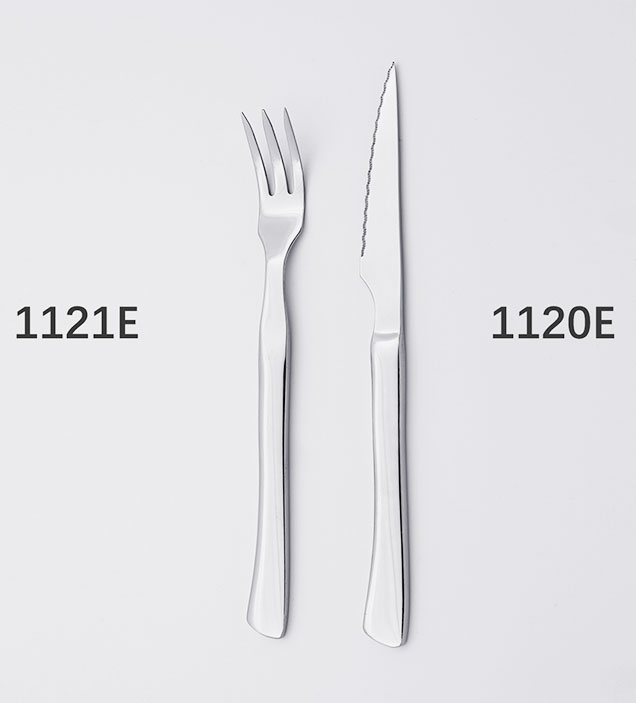 QZQ Wholesale Stainless Steel Steak Knife and Fork Cutlery Set for Hotel Reataurant
