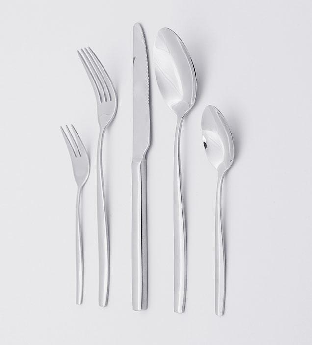 QZQ High Mirror Plish Low MOQ Cheap Luxury Wedding Flatware Silverware Wholesale Stainless Steel Cutlery Set