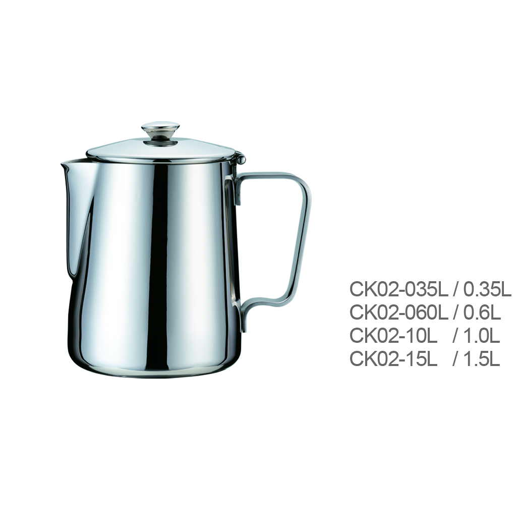 Best Selling Stainless Steel Milk Frothing Jug with Stainless Steel Lid