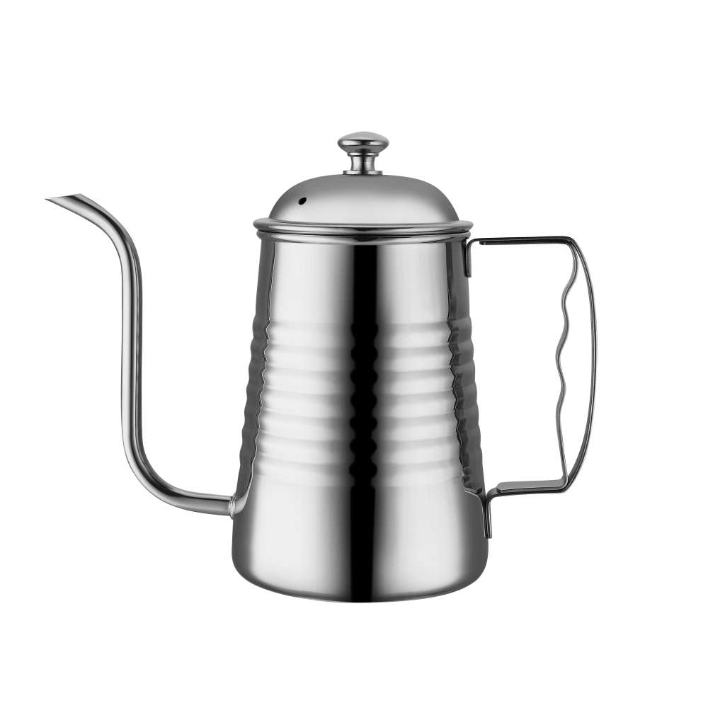 Factory Wholesale 304 Stainless Steel Gooseneck Pour Over Drip Coffee Kettle with Stainless Steel Handle