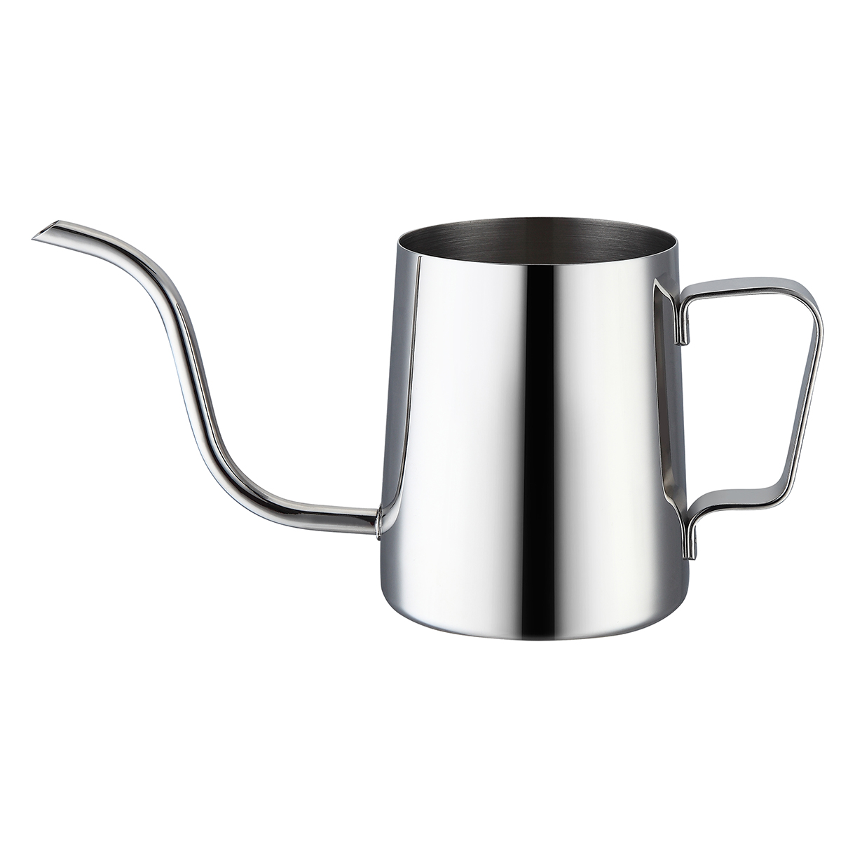 Long Spout 304 Stainless Steel Pour Over Drip Milk Kettle