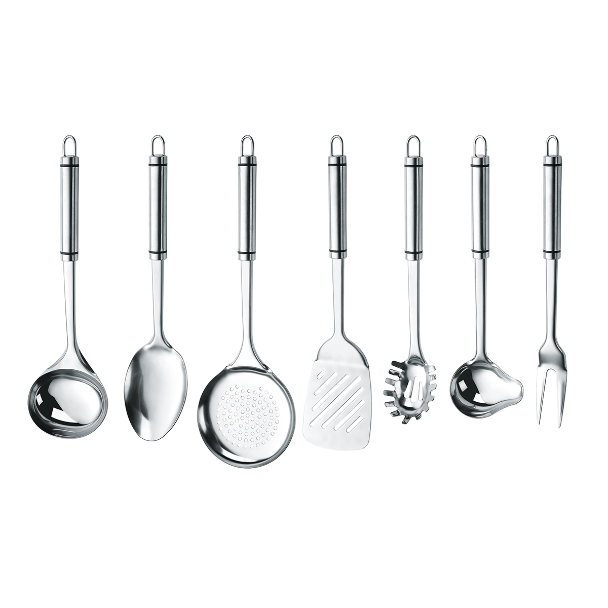 Complete 410 Private Label Cooking Tools Kitchen Utensils Stainless Steel