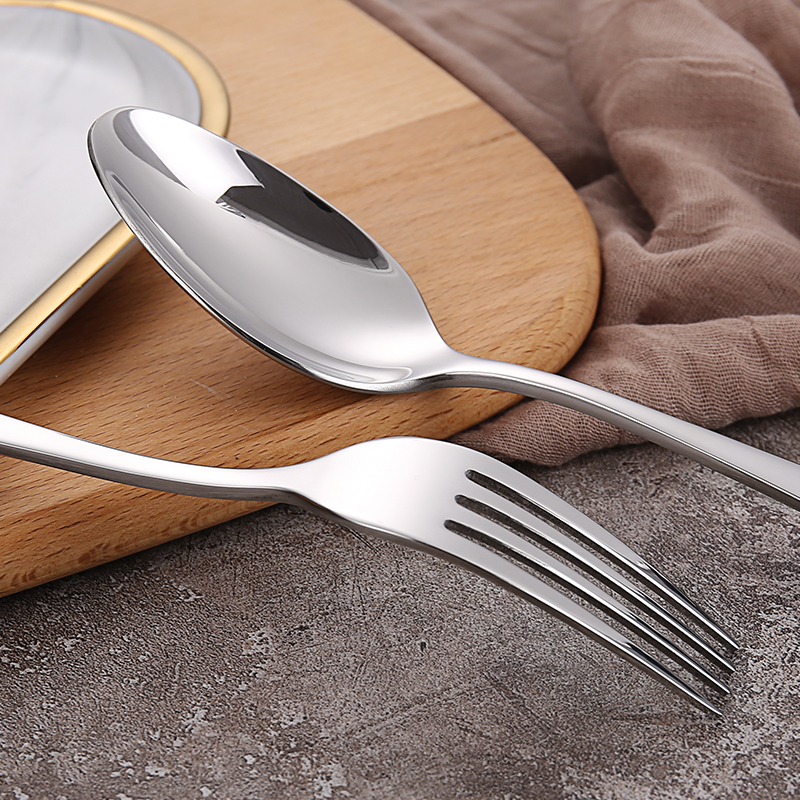 18/10 Tabletop Stainless Steel Flatware Serving Utensil Set Spoons Buffet Banquet Cutlery Dinner Set of Knife Fork and Spoon