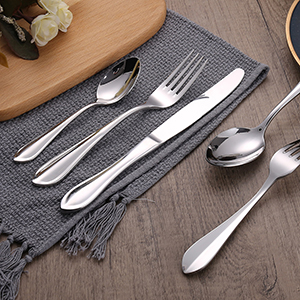 Top Rated Elegant Silverware Stainless Steel Cutlery Food Grade Flatware Set Wholesale for Restaurant Hotel Amazon