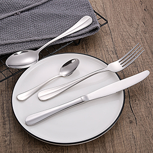 High Quality Modern Design Stainless Steel Cutlery Flatware Set Food Grade Silverware Wholesale for Restaurant Hotel Amazon