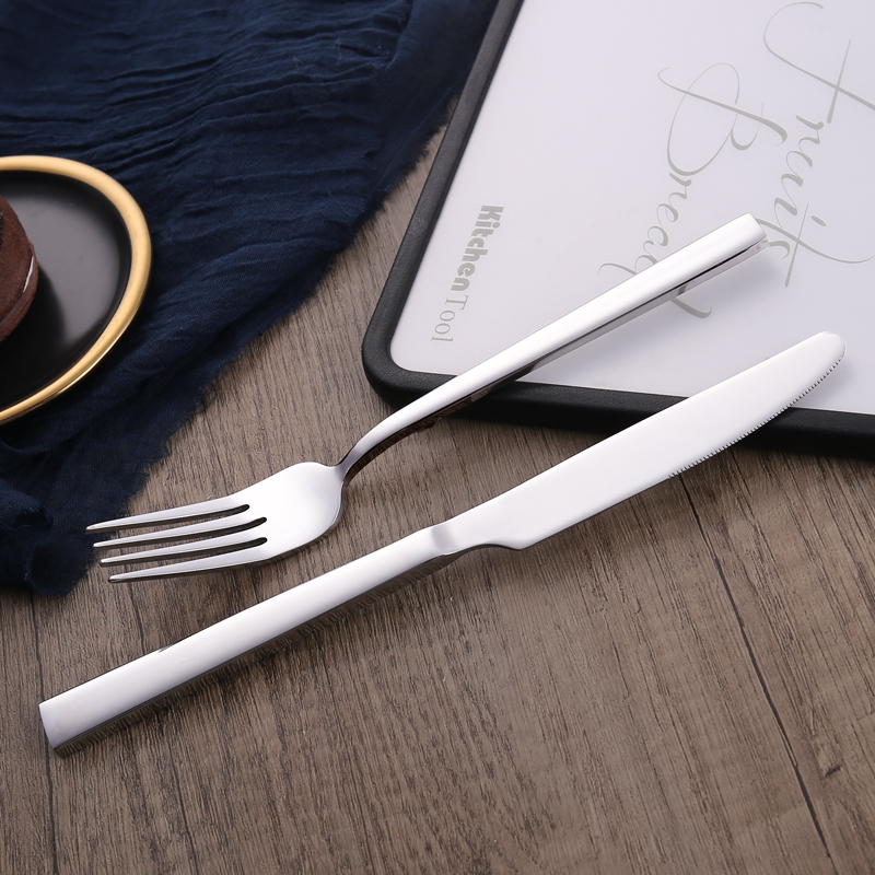 High Quality Stylish Stainless Steel Cutlery Flatware Set Food Grade Silverware Wholesale for Restaurant Hotel Amazon