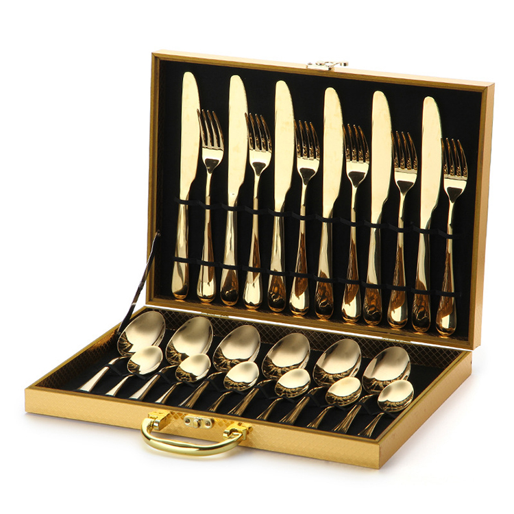 Wholesale Amazon Hot Mirror Polish Silverware Flatware Restaurant Stainless Steel Cutlery Set