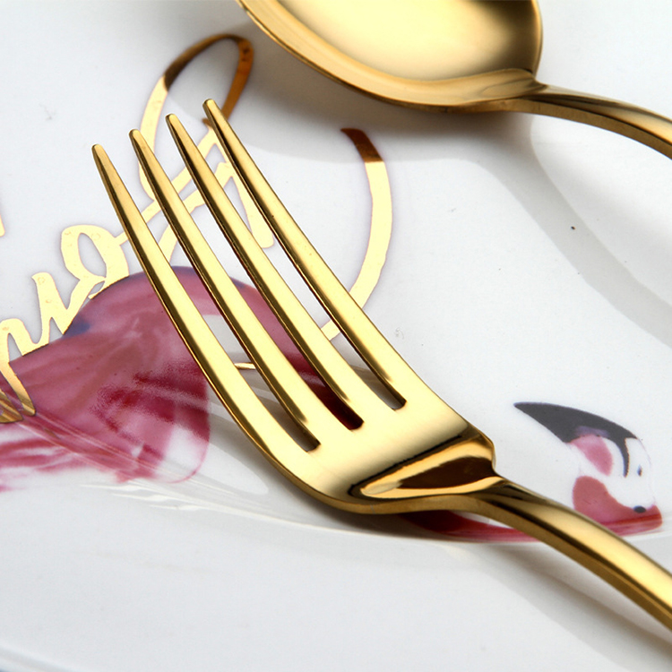 Wholesale Amazon Hot Mirror Polish Silverware Flatware Restaurant Stainless Steel Cutlery Set