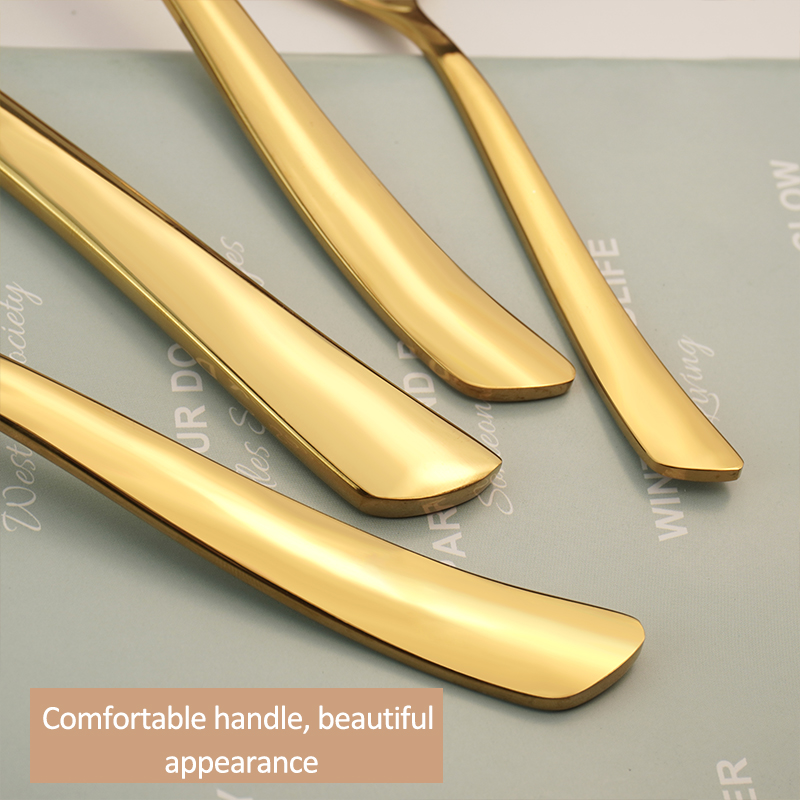 High Quality Modern Elegant Stainless Steel Cutlery Flatware Set Food Grade Silverware Wholesale for Restaurant Hotel Amazon