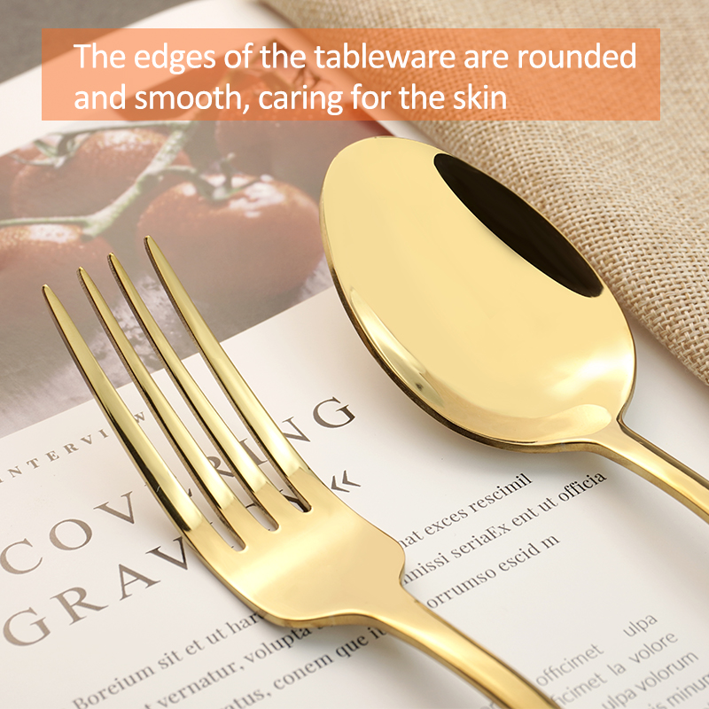 High Quality Modern Design Stainless Steel Cutlery Flatware Set Food Grade Silverware Wholesale for Restaurant Hotel Amazon